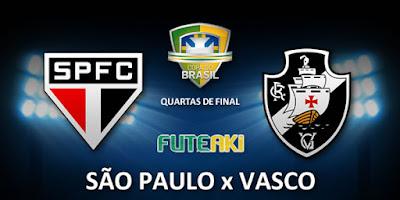 Confronto entre São Paulo e Vasco pelas quartas de final da Copa do Brasil 2015.