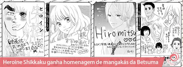 Heroine Shikkaku ganha homenagem de mangakás da Betsuma
