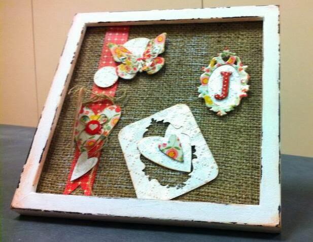 Las cositas de atelier cuadro con tela de saco - Cuadros con tela de saco ...