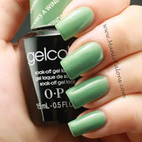 OPI GelColor Gel Polish Thanks A Windmillion Swatch