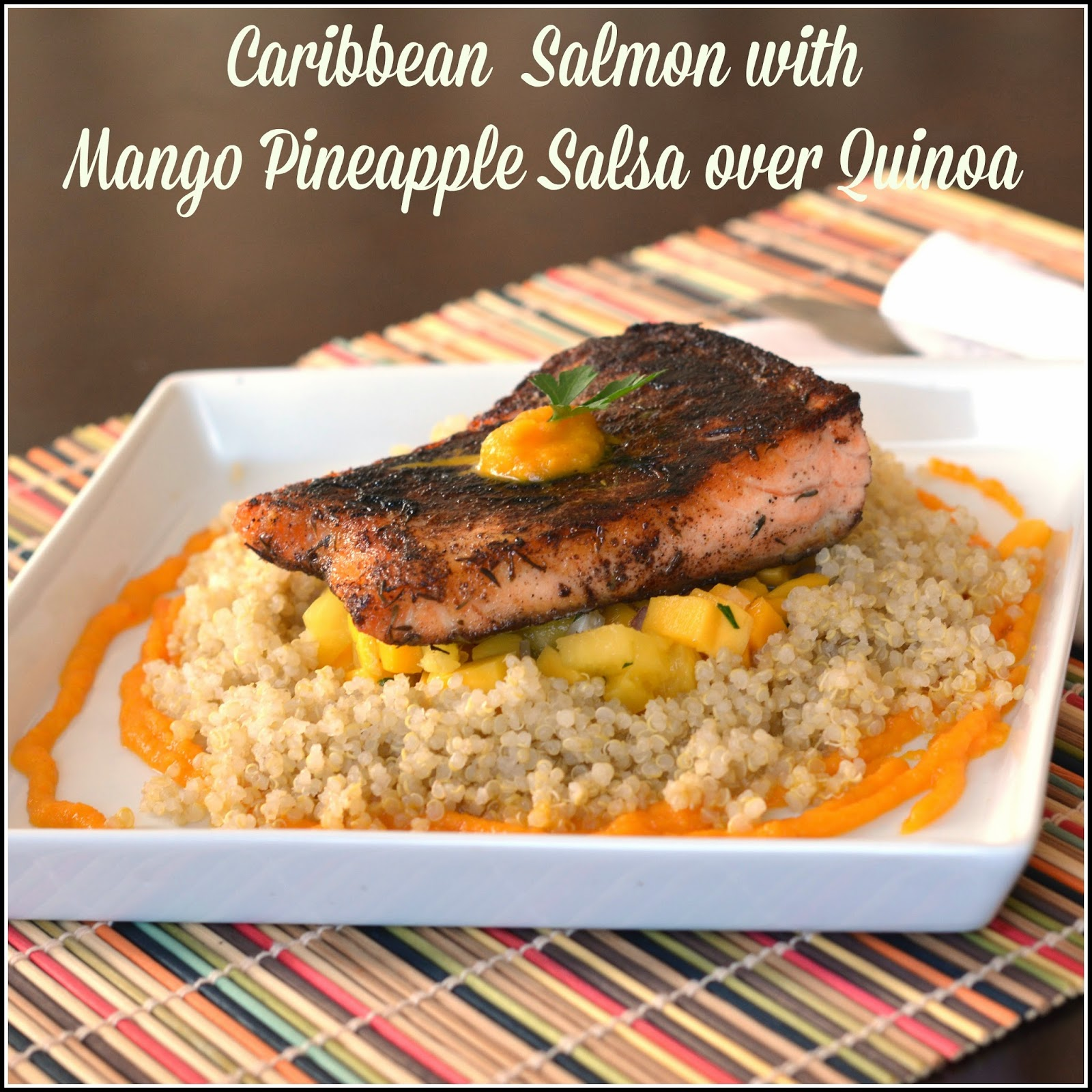 mango salsa and pineapple mustard salmon with blueberry mango salsa ...