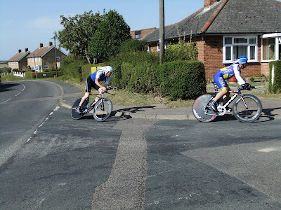 HNCC's current fast man Andrew Herbert riding the 2012 Stevenage CC 2-Up Team Trial with Simon Doyle