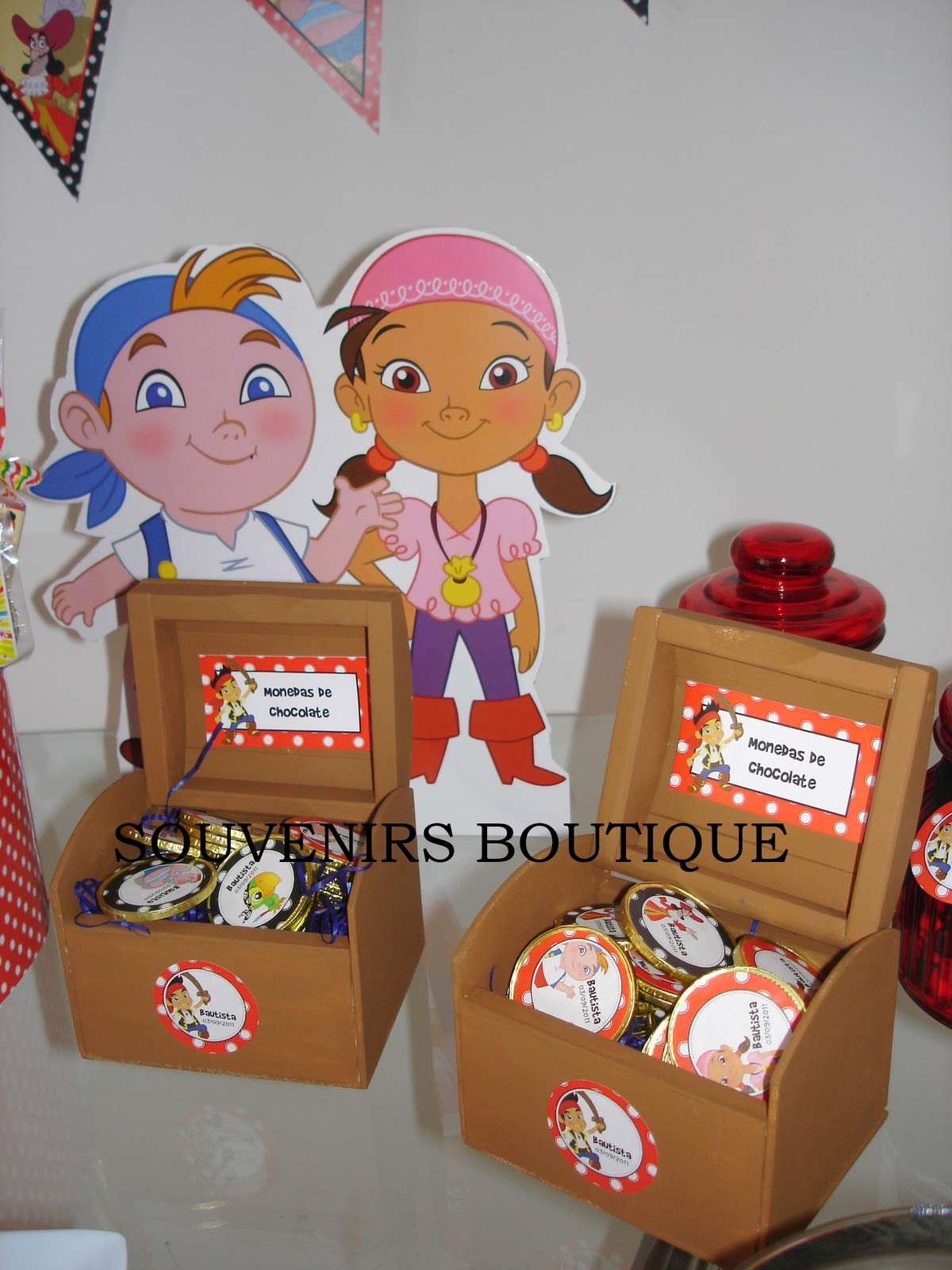 Candy Tematico De Jake Y Los Piratas Para Bautista