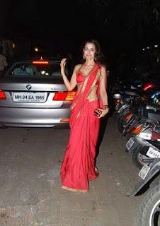 Amisha patel sexy in red saree