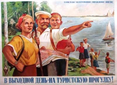 1952 Cartel Soviético de Turismo Vintage, URSS