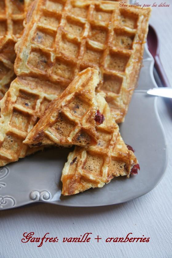 une cuill 232 re pour les d 233 lices gaufres de herm 233 gt vanille cranberries