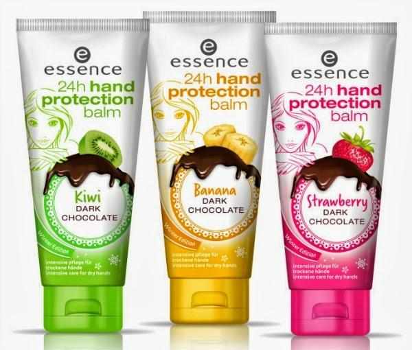 essence 24h hand protection balm – chocolate fondue - strawberry, kiwi, banana