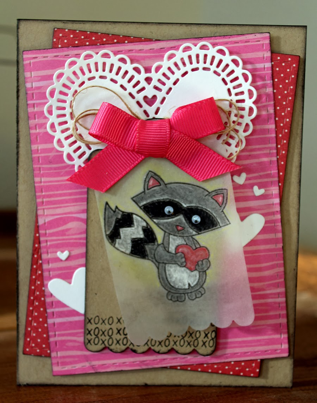 Raccoon Valentine by Larissa Heskett for Newton's Nook Designs
