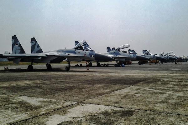 Armada Jet Tempur Sukhoi TNI AU. PROKIMAL ONLINE Kotabumi Lampung Utara