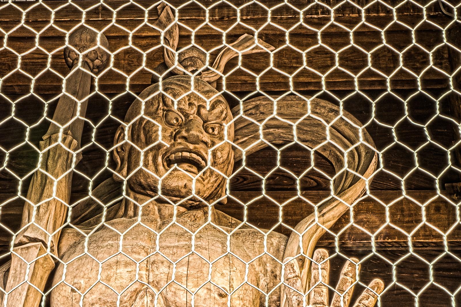 田無山、総持寺の仁金剛力士吽像の写真