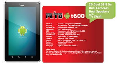 Mito T600 - Spesifikasi dan Fitur Mito T600