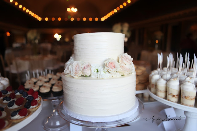 Romantic 2 Tier Wedding Cake MInneapolis