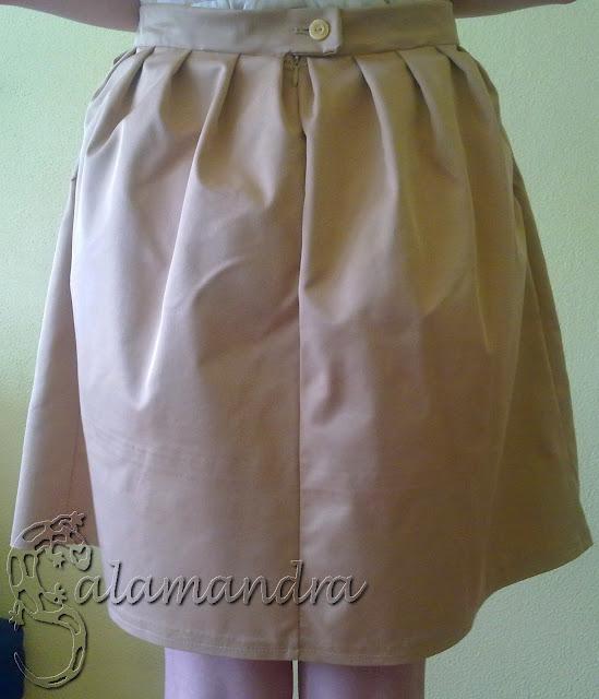 elegancka rozkloszowana spódnica