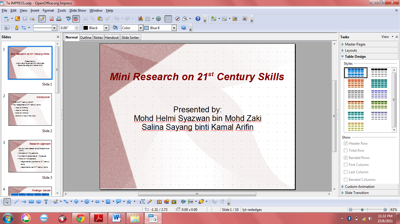 research paper powerpoint presentation examples