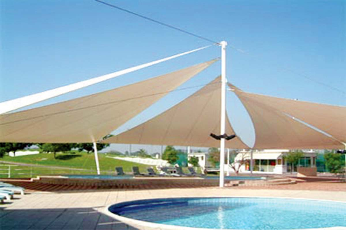 Tensile shades in uae tensile shades structure uae for Shade structures