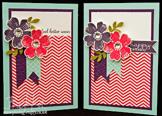 Flower Shop Stamp Set from Stampin' Up!  Two variations on a design by UK based Demonstrator Bekka Prideaux