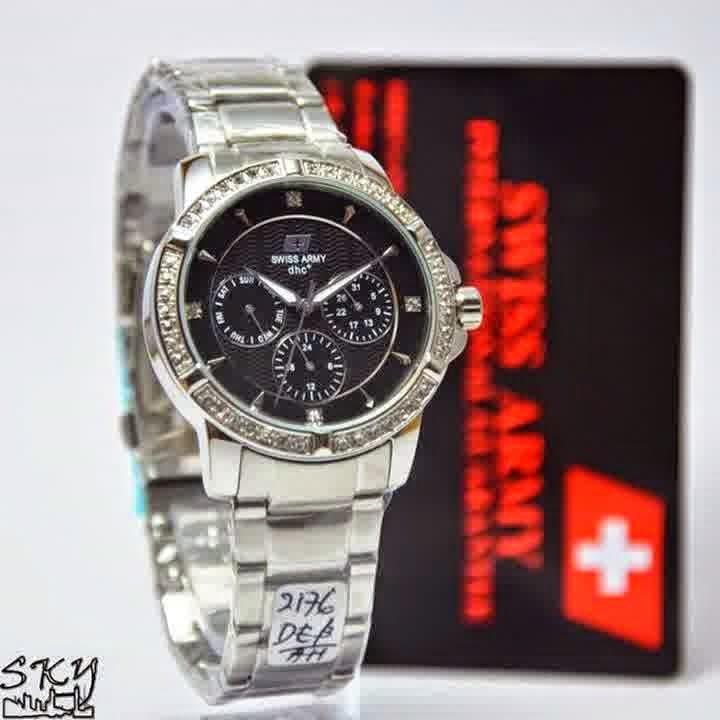 Swiss Army SA 2176 SS Lady silver hitam
