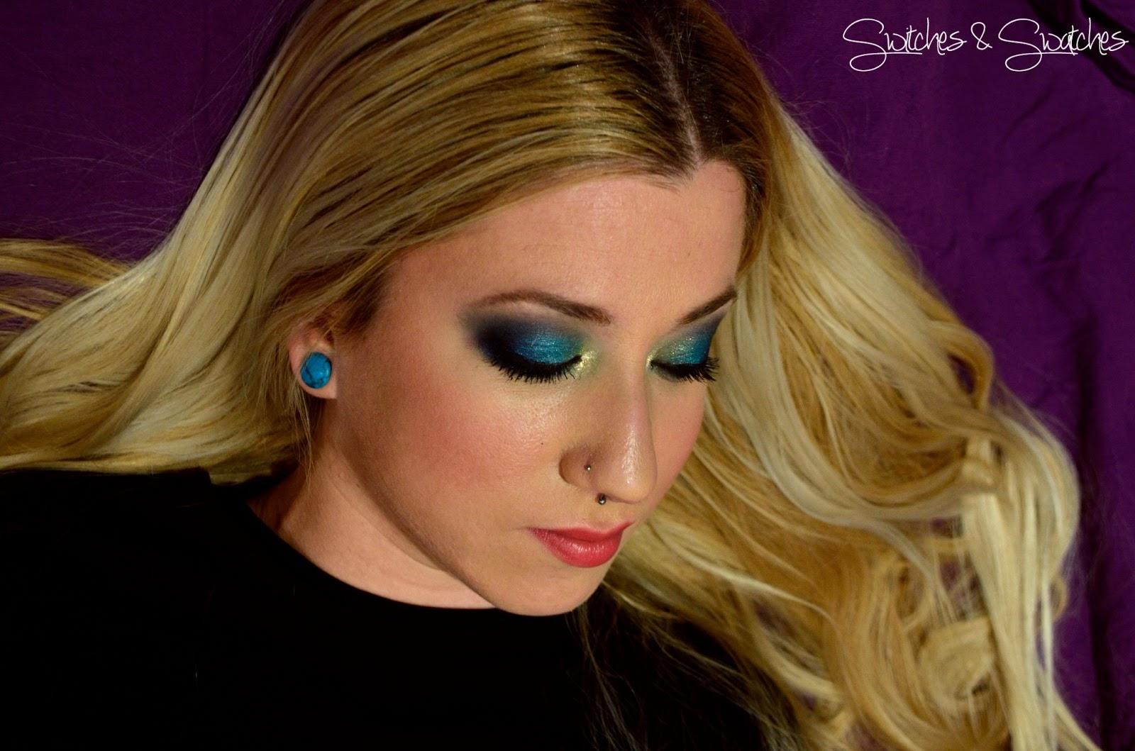 Maquillaje de dia para vestido azul turquesa