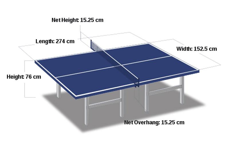 Ukuran Meja Tenis Meja