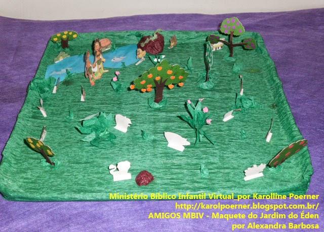 AMIGOS MBIV  Maquete do Jardim do Éden por Alexandra Barbosa