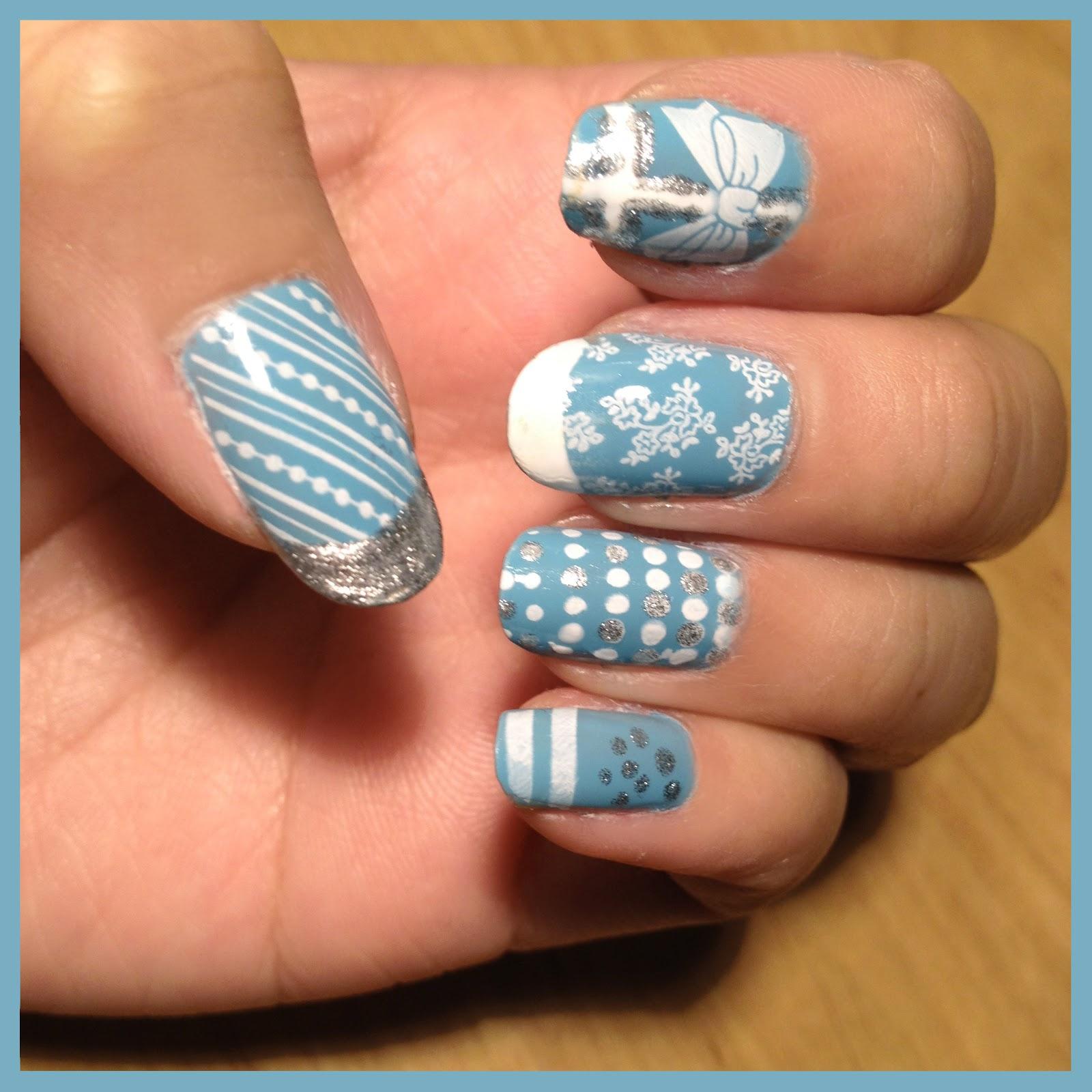Tiffany Blue Nail Art: Nail Art Couture★ !: Tiffany's Inspired Nail Art