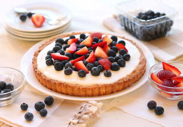 The Cilantropist: Red, White, and Blueberry Tart