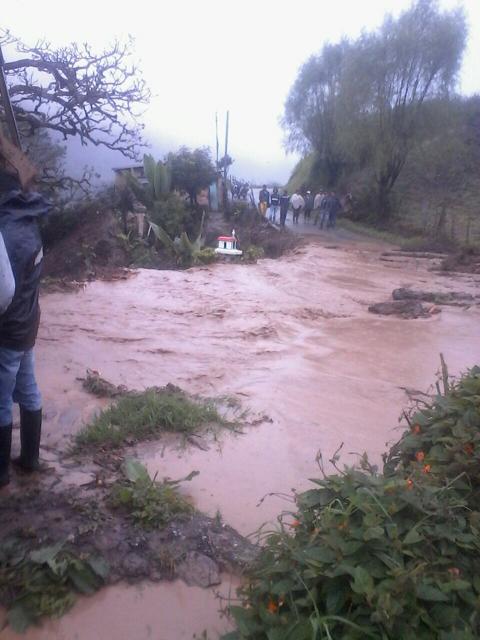 SOS: Sitiada Chitagá por el invierno. Troncal del Norte está bloqueada en varios puntos