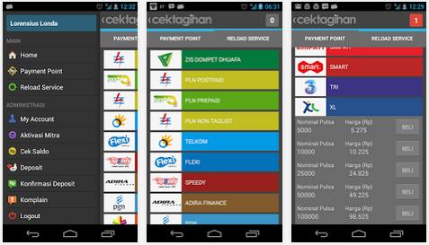 Cek Tagihan: Aplikasi Android untuk Cek Tagihan Listrik PLN, Telkom, ADIRA Finance, PDAM, Indovision, Dompet Dhuafa
