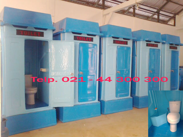 portable toilet fiberglass, flexible toilet frp, wc sementara, toilet proyek, urinoir, wc duduk, jongkok, septic tank biotech, sewage treatment plant biotech