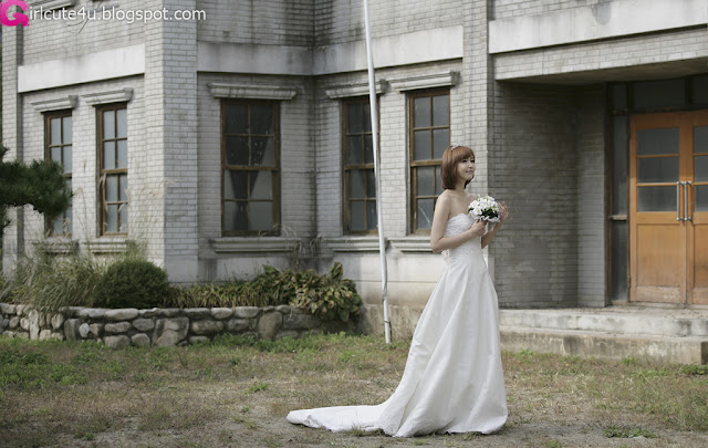 4 Kang Yui - Wedding Dress-very cute asian girl-girlcute4u.blogspot.com