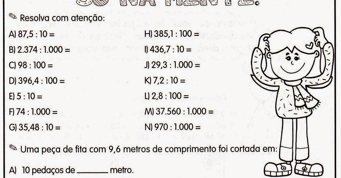 Amado CLUBE DA COR ATIVIDADES ESCOLARES : Números decimais , 30  NX59