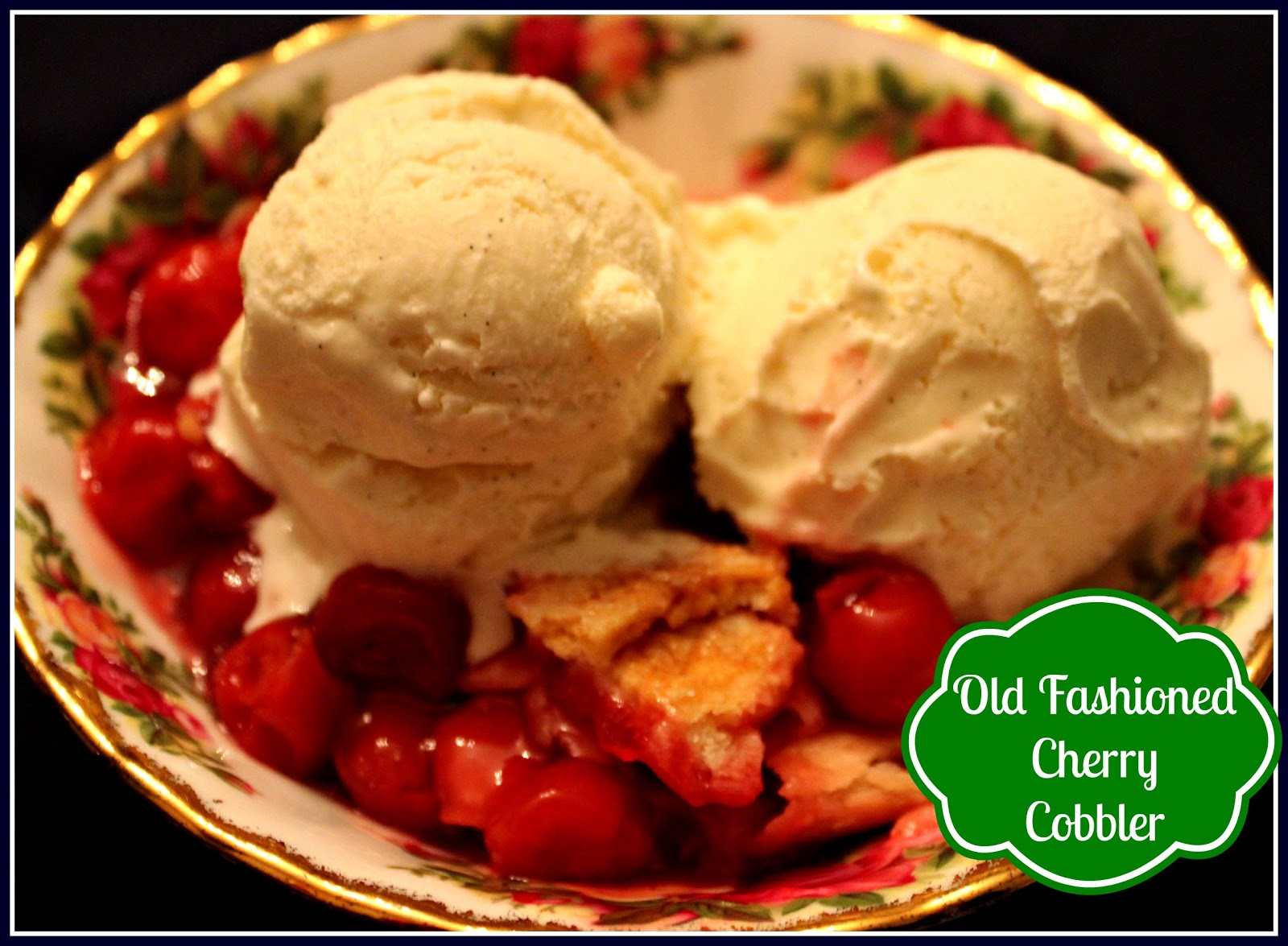 Sweet Tea and Cornbread: Mama's Old Fashioned Cherry Cobbler!