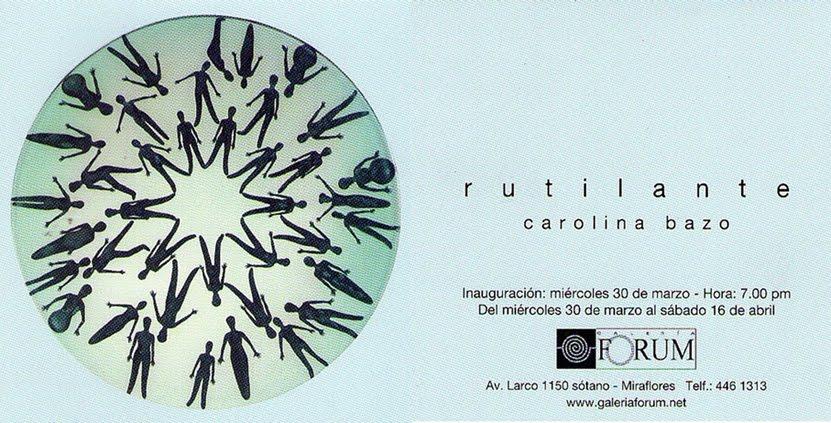 Rutilante - Carolina Bazo