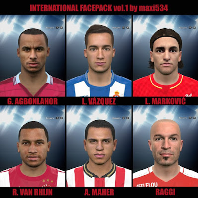 PES 2016 International Facepack vol.1 by maxi534