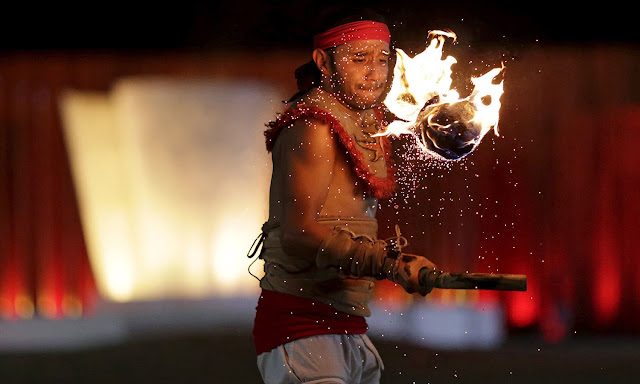 World Indigenous Games - Fireball Hockey known as ''La Batalla'' in Picture