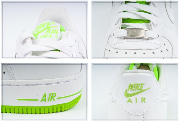 air force 1 blancas y verdes