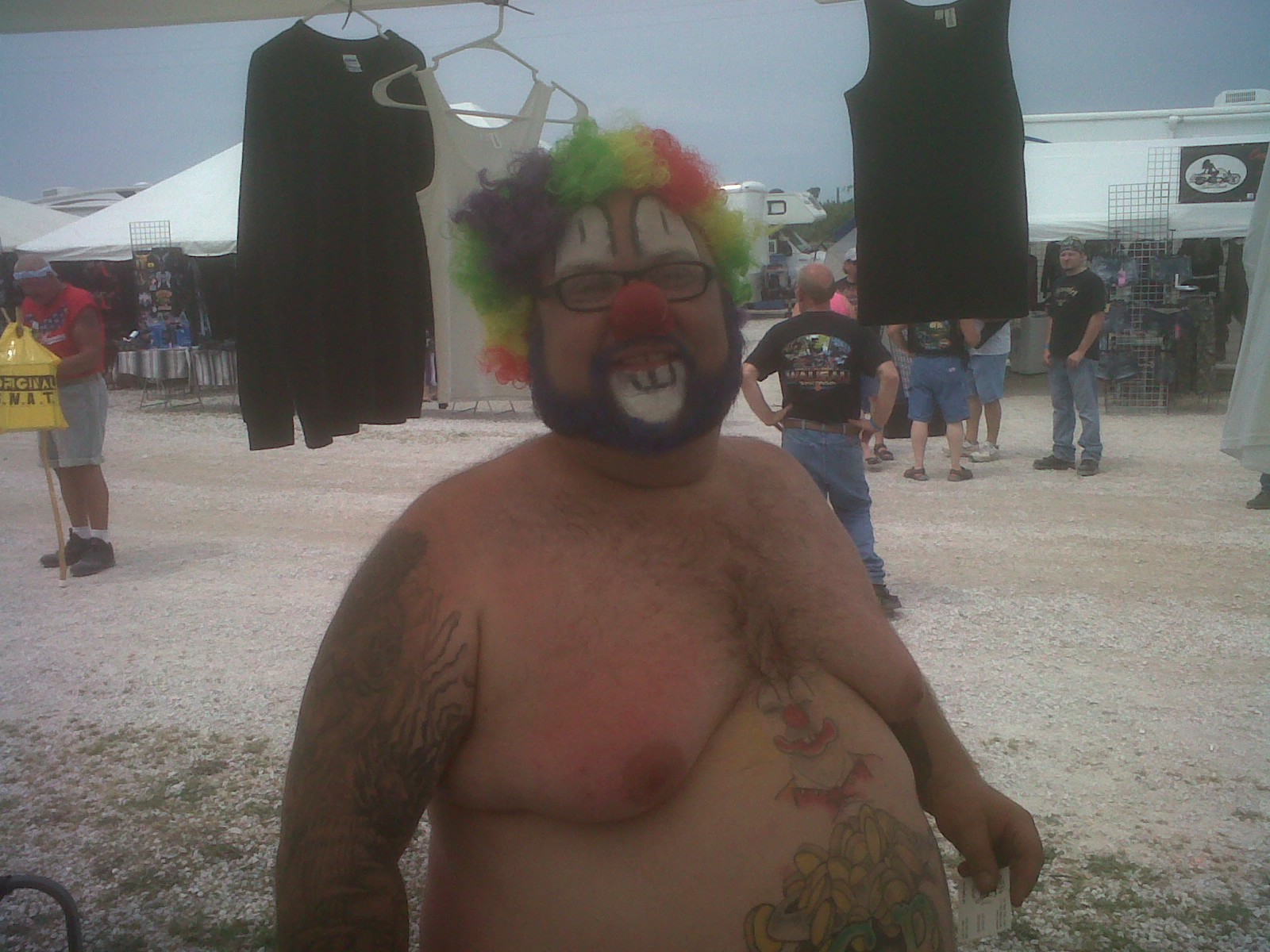 Clown man. Surprisingly, skinny compared to many here.