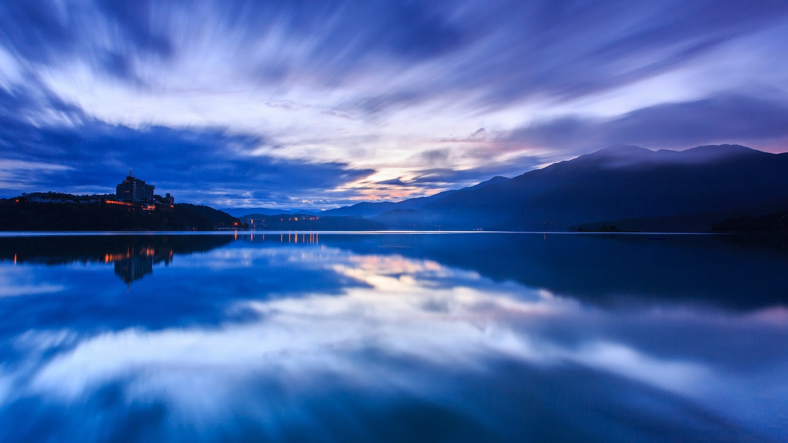 Taiwan Blue Sunset Lake
