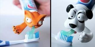 uma cabeça de bichinho para por na pasta de dentes