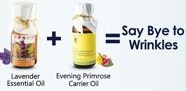 Lavender Essential Oil and Evening Primrose Carrier Oil to Get Rid Of Wrinkles
