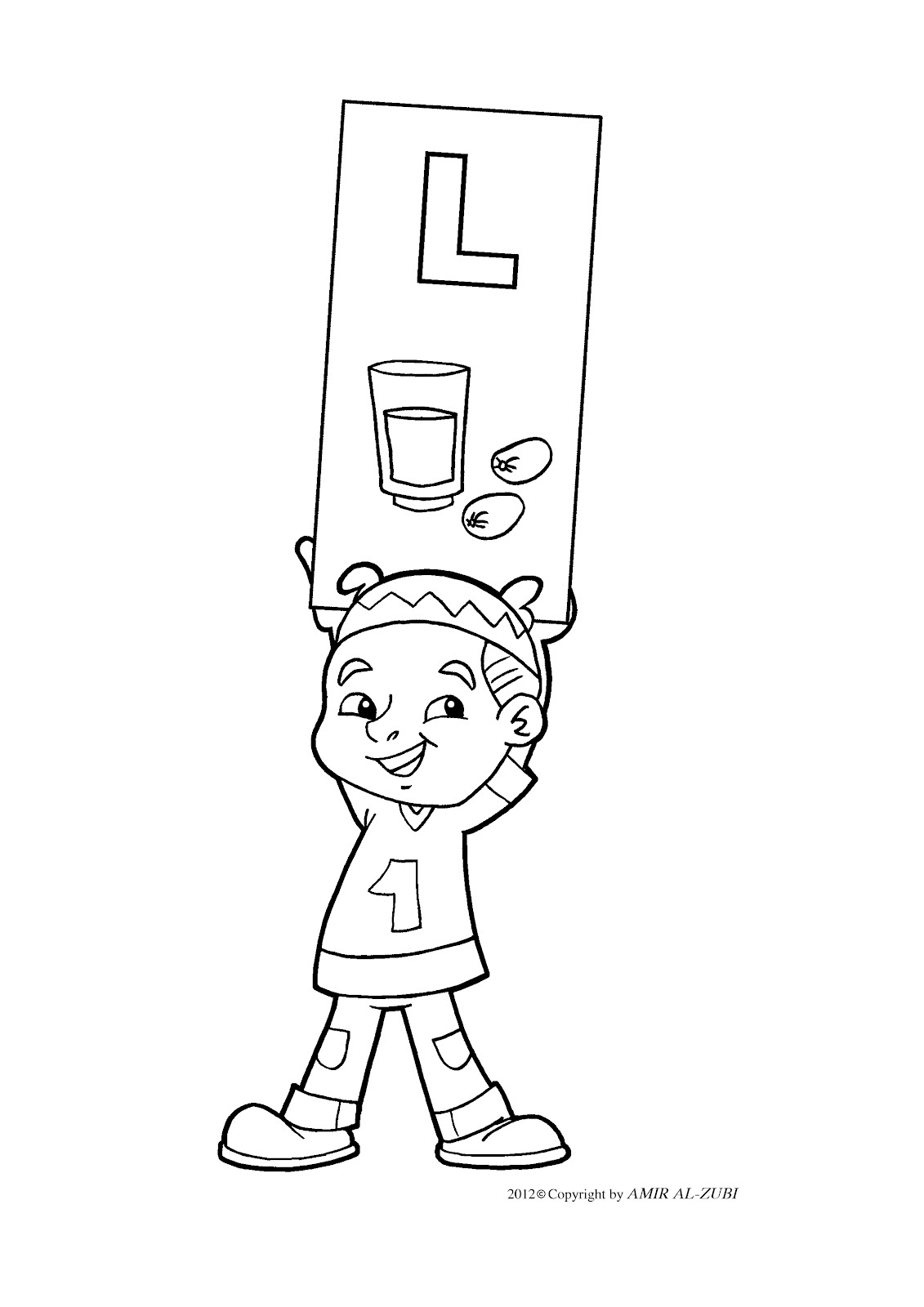 new muslim kids l coloring pages