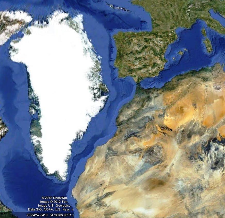 Grønland/Portugal/Spain/Morroco/Western Sahara/Mauritania