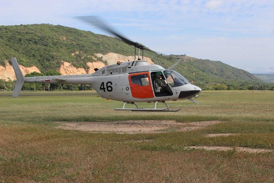 Helicóptero OH-58 Kiowa de la Fuerza Aérea Colombiana.