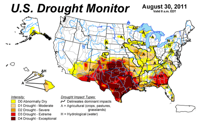 Droughtpng - Argentina drought map