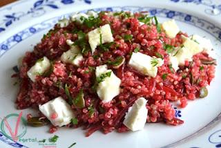 ensalada De Quinoa, Remolacha Y Feta
