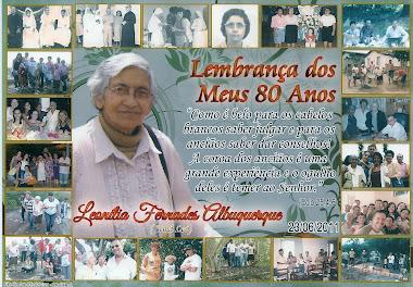 ANIVERSÁRIO DE 80 ANOS DA IRMÃ LEÓ