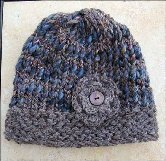 Knitting Loom Hat : Altered scrapbooking ladies loom knit hat