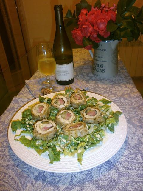 Trebbiano d'Abruzzo Vigneto di Popoli e Arrosto di pollo e mortadella in crosta di piadina