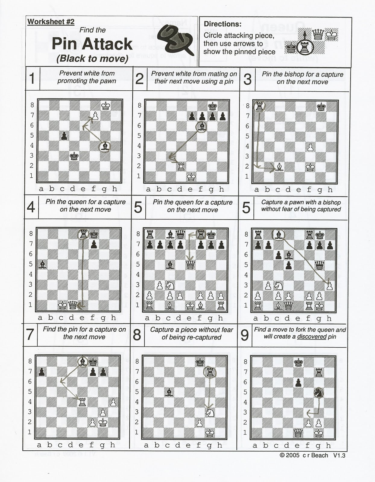 This is a photo of Breathtaking Printable Chess Puzzles