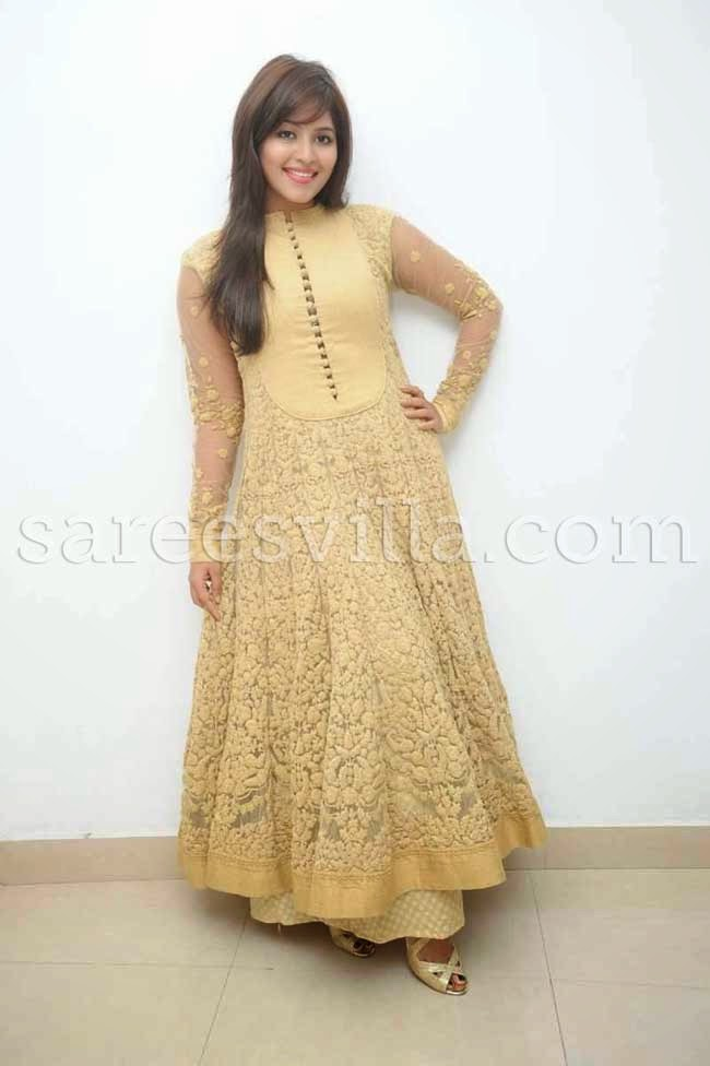 Actress Anjali In Floor Length Anarkali